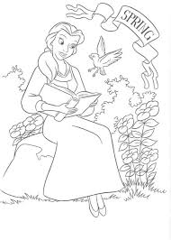 beauty beast colouring pages free belle