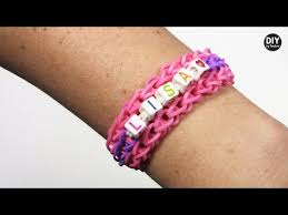 diy by panduro rainbow loom with letter beads youtube