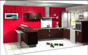 idee mur cuisine cuisine avec mur noir