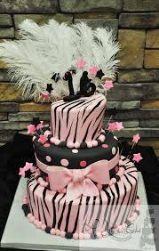 zebra sweet sixteen birthday cake a little cake a little cake