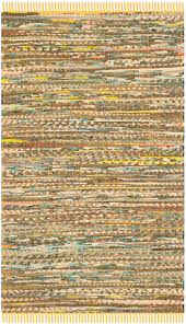 Yellow Round Area Rugs Rug Rar121h Rag Rug Area Rugs By Safavieh