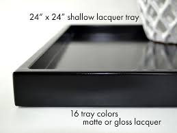 large decorative tray for ottoman ottoman tray decor shallow modern coffee table tray 24 x 24