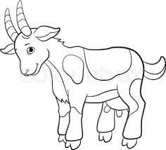 coloring book with farm animals stock vector colourbox