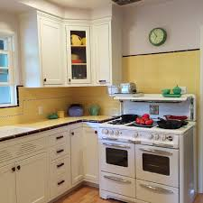 Mid Century Window Trim Carolyn U0027s Gorgeous 1940s Kitchen Remodel Featuring Yellow Tile