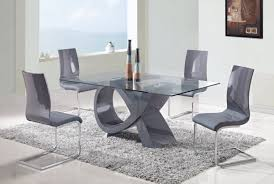 modern and classic dining room table and chairs set