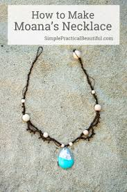 diy necklace making images Moana 39 s necklace pinterest tutorials moana and gift jpg