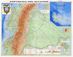 Physical Maps Large Detailed Physical Map Of Ecuador Ecuador Large Detailed