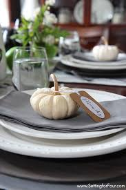 fall wildflower tabletop decorating ideas setting for four
