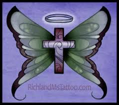 butterfly cross christian richland ms tattoos