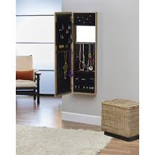 Jewelry Mirror Armoire Innerspace Over The Door Wall Hang Mirrored Jewelry Armoire