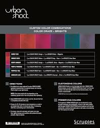 cool 2 color combinations scruples urban shock brights long lasting fashion colors taming