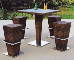 Rattan Bar Table with China Modern Design Rattan Bar Table And Stool For Outdoor