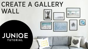 How To Design A Gallery Wall by How To Hang A Gallery Wall Salon Style Juniqe Tutorial Video