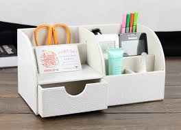 White Desk Organizer White Black Desktop Organizer Office Desktop Phone Organizer