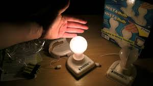battery operated stick on lights instabulb as seen on tv battery operated stick up light review youtube