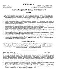 Profile Resume Examples by Sales Profile Resume Sample Retail And Restaurant Associate Resume