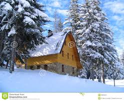 Winter House Winter Mountain House Stock Photo Image 17359960