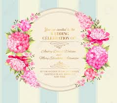 Invitation Card Format For Marriage Wedding Invitation Card With Pink Flowers Vintage Wedding