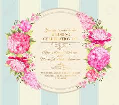 Invitation Card Wedding Invitation Card With Pink Flowers Vintage Wedding