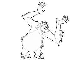 jungle book king louie coloring pages jungle book king louie