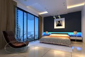 bed back wall design bedroom designs blue orginally leisure sofa wall lamp interior