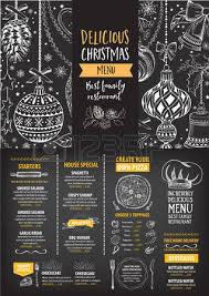 menu card christmas restaurant brochure stock photos royalty free