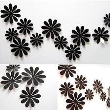 12x 3d flowers sunflower mirror flower effect sticker decal home 12x 3d flowers sunflower mirror flower effect sticker decal home wall decoration ebay