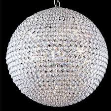 Crystal Sphere Chandelier Innovative Crystal Ball Chandelier Lighting Sound Lighting Crystal