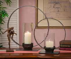 Iron Home Decor by Iron Circle Hurricane Candleholder 19