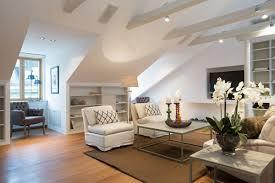 Attic Space Design by Elegant Attic Apartment Interior Design By Karlaplan Attic