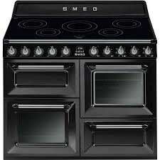 Smeg 110 Gloss Black Induction Cooker Tr4110ibl Smeg Smeg Uk