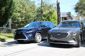 lexus suv blue head2head lexus rx350 and mazda cx 9 u2013 speed beautiful u2013 for