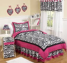 Teen Comforter Set Full Queen by Pink Black U0026 White Funky Zebra Teen Bedding 3 Pc Full