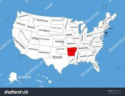 us map with arkansas united states map arkansas stock vector arkansas state usa vector