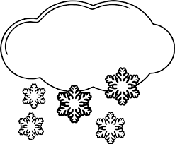 winter cloud snow coloring wecoloringpage