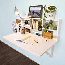 sobuy fwt07 w folding wooden wall mounted drop leaf table desk