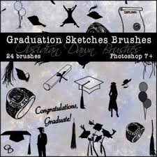 obsidian dawn photoshop brushes graduation sketches brushes the