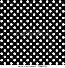 polka dot pattern black white vector stock vector 561151027