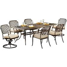 Agio Patio Furniture Covers - agio 7 piece patio dining set heritage collection review