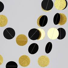 New Years Party Decorations Supplies by Aliexpress Com Buy 2 Meters Black Glitter Gold Paper Garland