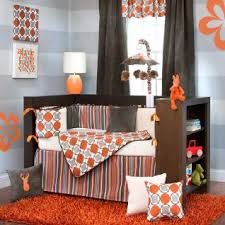 Orange Crib Bedding Sets Bring Your Nursery To With Calming Shades Of Tangerine Taupe