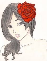 red rose a manga drawing art and drawing on cut out keep
