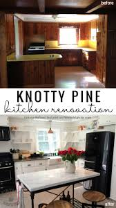 How To Remodel A Galley Kitchen Remodelaholic Kitchen Renovation Updating Knotty Pine Cabinets
