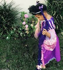 Rapunzel Halloween Costumes Blue Ivy Princess Wearing Rapunzel Style
