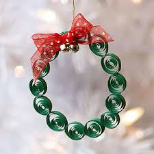 quilled wreath ornament for the tree