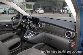 mercedes dashboard mercedes v class rise edition dashboard indian autos blog