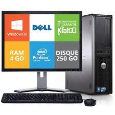 ordinateur de bureau dell optiplex 780 dual 4 go ram 250 go