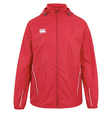 Red White Flag Canterbury Team Full Zip Rain Jacket Kitlocker Com