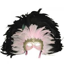 mask with feathers venetian mask in london for pink grand moulin feathered