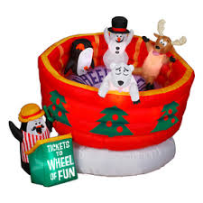 Lowes Inflatable Outdoor Christmas Decorations by Holiday Living 5 24 Ft Lighted Wheel Of Fun Christmas Inflatable